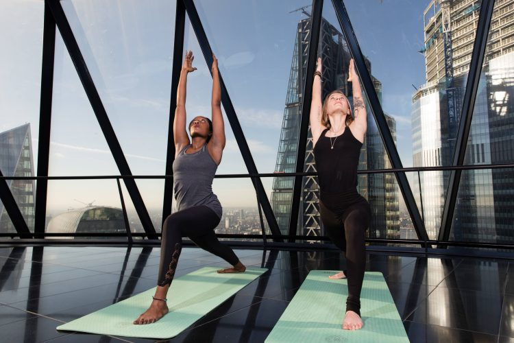 YOGA AT THE GHERKIN