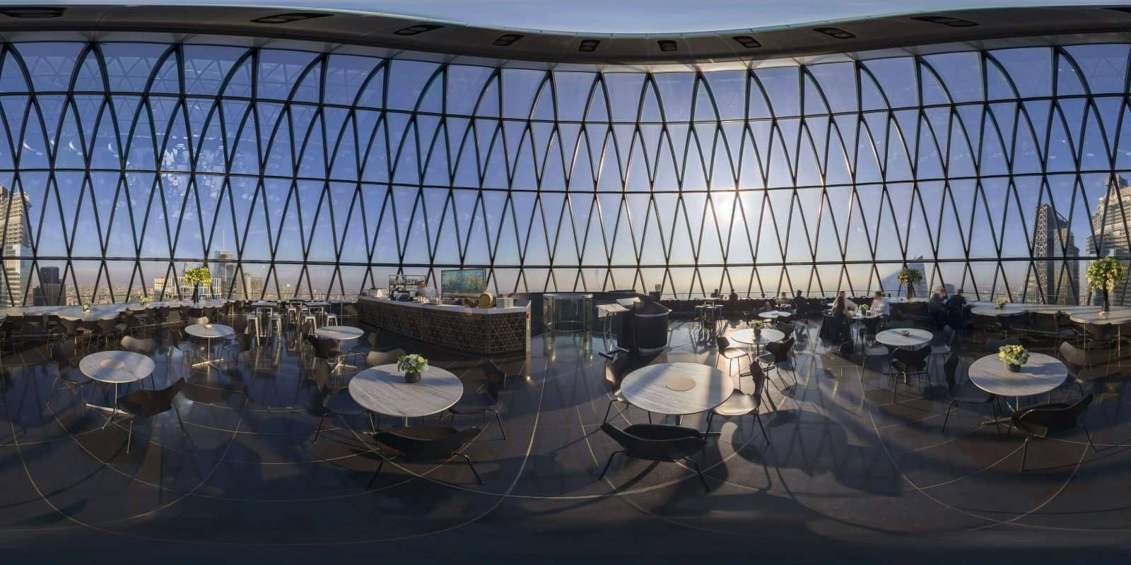 The Gherkin Restaurant Bar Event Spaces Central London