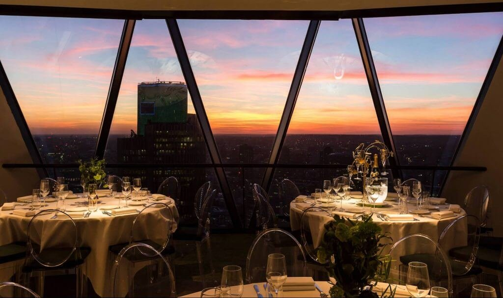 New Year's Eve Private Dining - Searcys at the Gherkin
