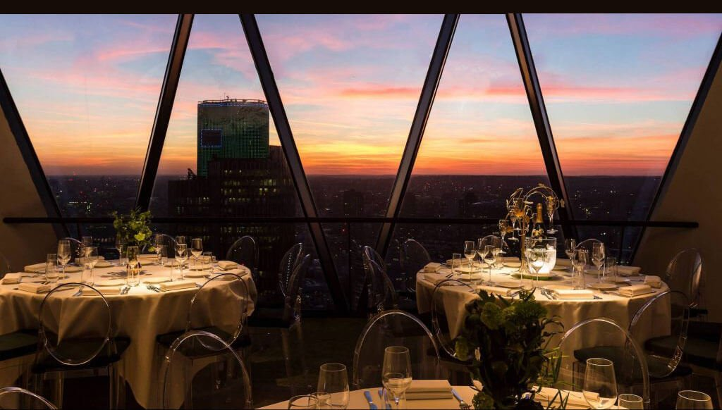Private dining rooms at The Gherkin