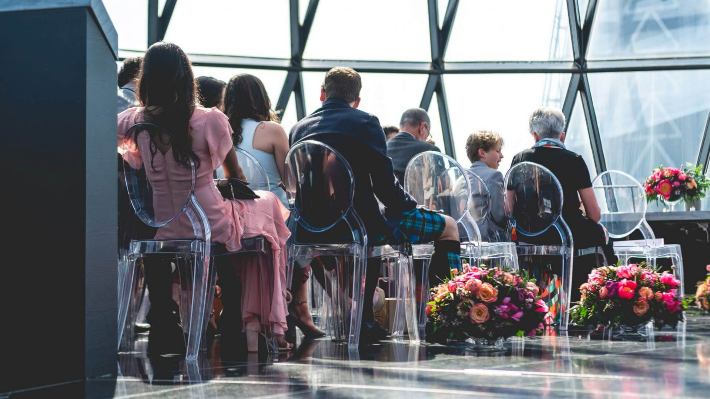 Things to consider when planning a micro wedding - Searcys at the Gherkin