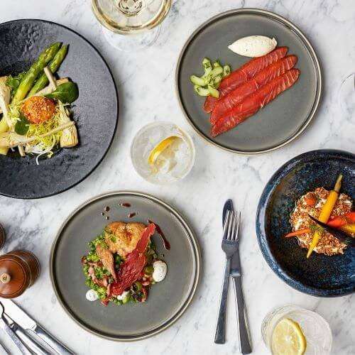 Book the tasting menu at the Helix restaurant at The Gherkin