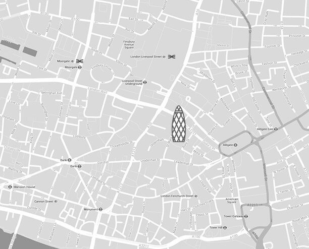 How to find us - The Gherkin