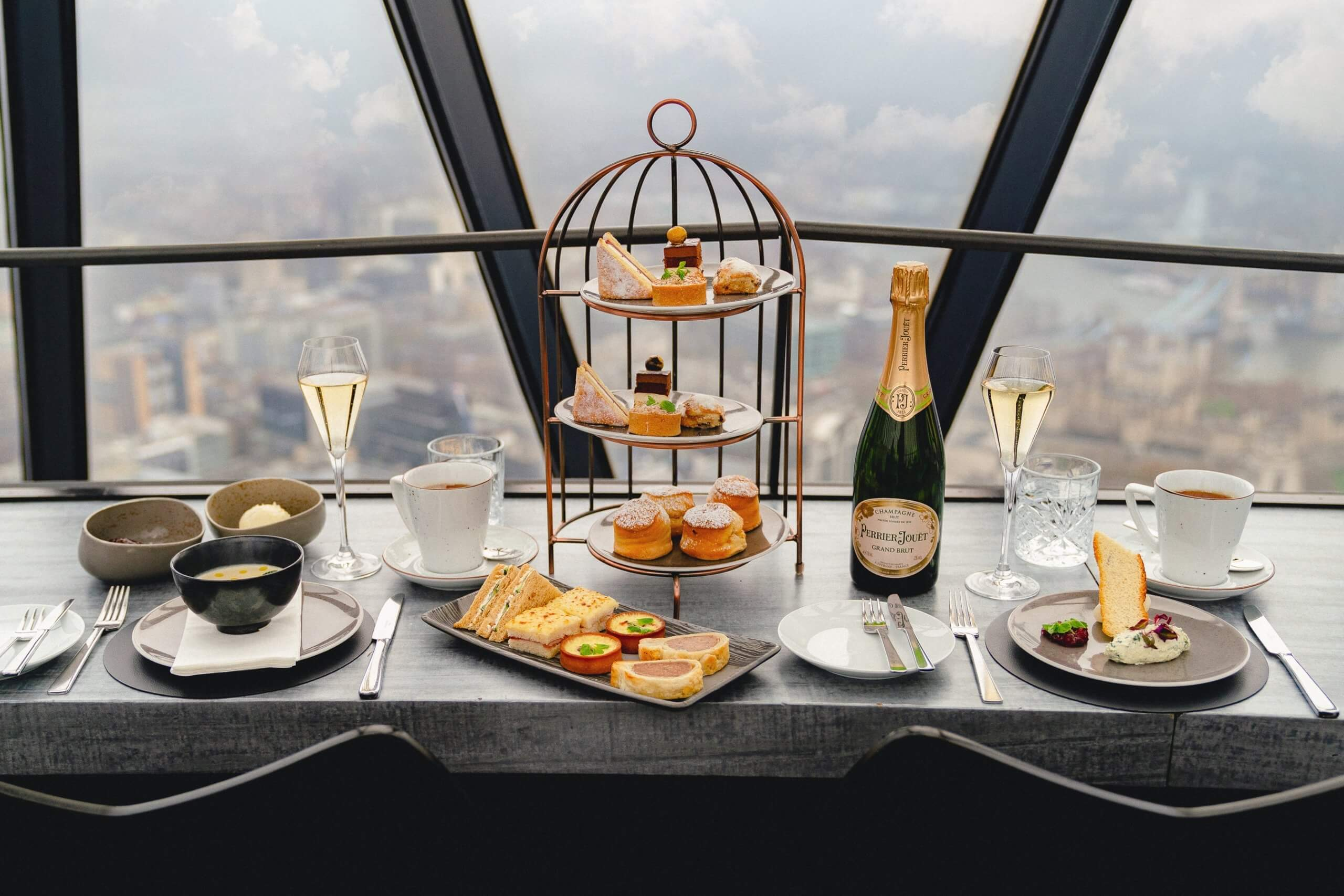 Perrier-Jouët Festive Afternoon Tea - Searcys at the Gherkin