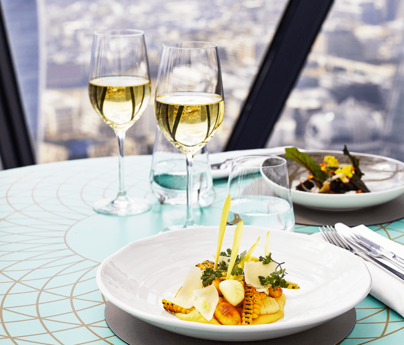 Sky-high dining at Searcys at The Gherkin